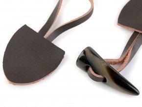 Designové zapínání kožené / roh