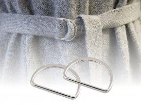 Polokroužek na textilní pásky šíře 30 mm plochý