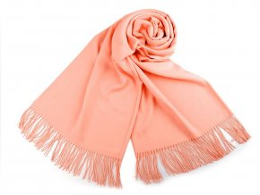 Šátek / šála typu pashmina s třásněmi 65x180 cm