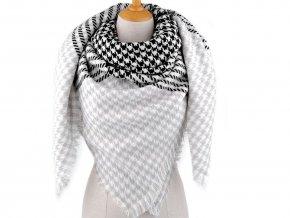 Velký teplý šátek / pléd kohoutí stopa