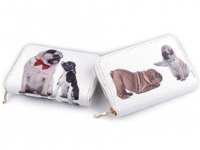 Dámská peněženka psi 10x14 cm