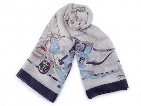 Saténový šátek / šála námořnická 90x170 cm