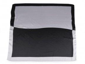 Saténový šátek s lemem 70x70 cm