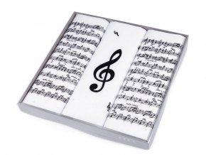 Pánský kapesník noty / dárková kazeta
