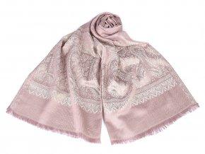 Šátek / šála ornament s lurexem 70x175 cm