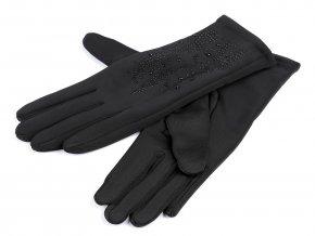 Dámské rukavice s kamínky