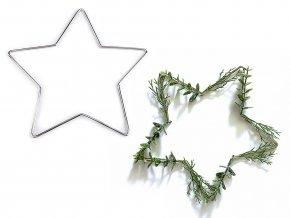Vánoční kovová hvězda pro tvoření a lapače snů Ø20 cm