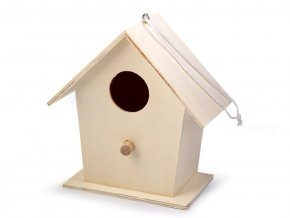Dřevěná ptačí budka k domalování