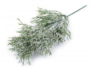 Umělá větvička s glitry ojíněná