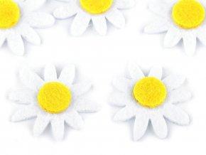 Filcový květ Ø30 mm slunečnice, kopretina