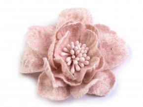 Vlněný květ s pestíky v barvě květu Ø60 mm