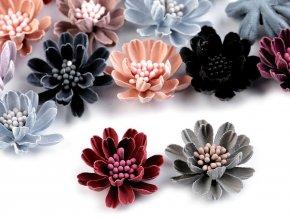 Textilní květ 3D s pestíky v barvě květu Ø33 mm