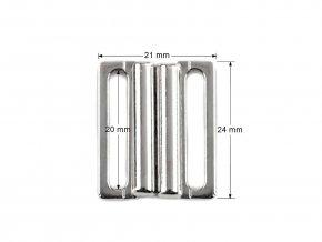 Plavkové zapínání šíře 20 mm kovové