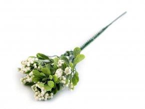 Umělá větvička s bobulemi a listy k aranžování