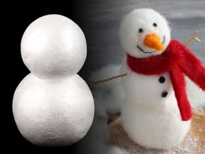 Sněhulák 9x14 cm polystyren
