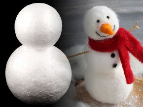 Sněhulák 12x18 cm polystyren