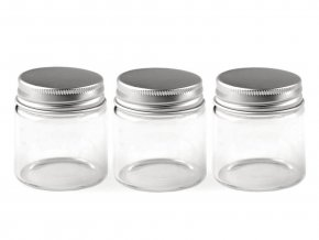 Skleněná lahvička se šroubovacím víčkem 47x50 mm
