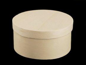 Dřevěná krabička kulatá k dozdobení
