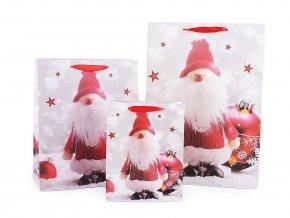 Dárková taška vánoční, sada 3 velikostí