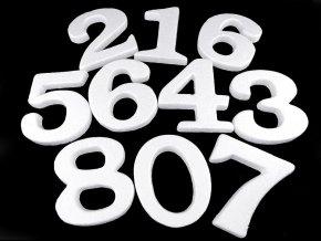 3D číslice výška 14 cm polystyren