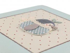Šperkovnice s 3D ptáčkem 7x18x18 cm