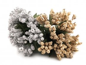 Květinové pestíky na drátku metalické