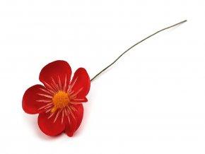 Umělý květ na drátku k aranžování