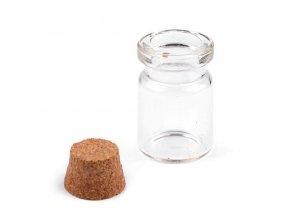 Skleněná lahvička s korkem 20x30 mm