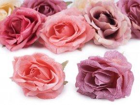 Umělý květ růže Ø7 cm