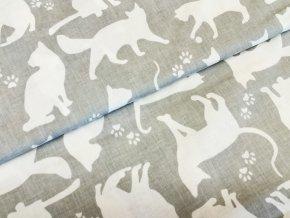 Plátno Bílé kočky na šedé