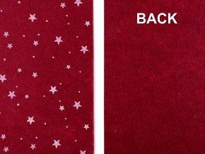 Vánoční látková dekorativní plsť / filc hvězda, vločka 20x30 cm