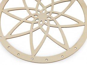 Dřevěný kruh na lapač snů mandala Ø25 cm
