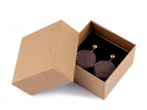 Krabička na šperky natural 7x7 cm