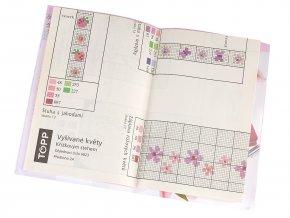 Kniha Vyšívané květy