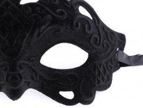 Karnevalová maska - škraboška semišová