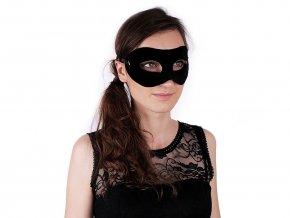 Karnevalová maska - škraboška semišová k dozdobení