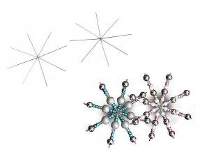 Hvězda / vločka drátová šablona Ø9 cm