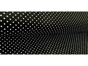 černá látka s puntíky