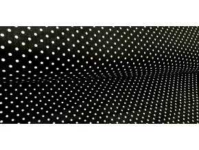 Plátno Malý bílý puntík na černé