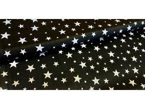 bílé hvězdy na černé