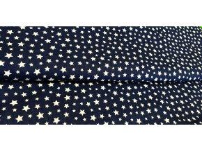 bile hvezdy na tmave modre