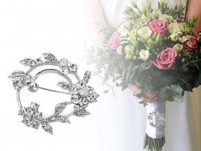 Brož / svatební ozdoba na kytice