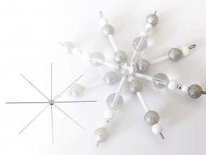 Vánoční hvězda / vločka drátová šablona Ø10 cm s ploškou