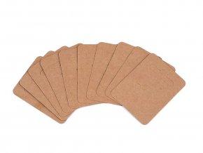 Papírová karta na náušnice 50x65 mm