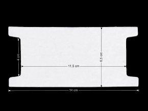 Papírová karta 6,5x14 cm s výřezem