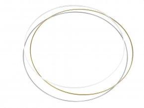 Kovový kruh na lapač snů / k dekorování Ø60 cm