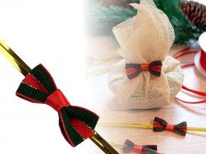 Vánoční mašlička s drátkem