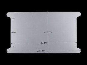 Plastová karta s výřezem 12,6x22,7 cm