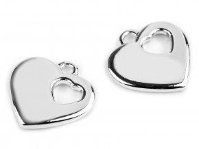 Přívěsek srdce 24x24 mm 2. jakost