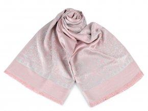 Šátek / šála typu pashmina 70x175 cm květy